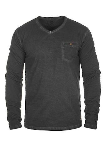 Solid Langarmshirt »Terkel«, Longsleeve mit Brusttasche kaufen