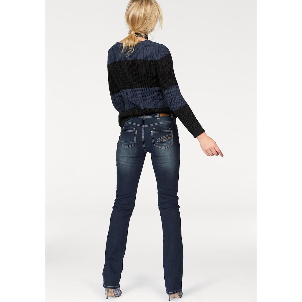 Arizona Gerade Jeans »mit Zippertasche«, Mid Waist