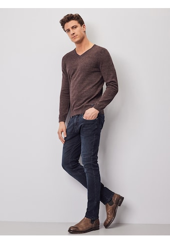 Pierre Cardin V - Neck Pullover in Doubleface - Optik kaufen