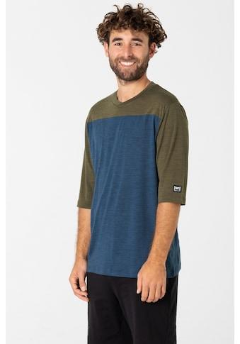 SUPER.NATURAL T-Shirt »CONTRAST 3/4«, funktioneller Merino-Materialmix kaufen