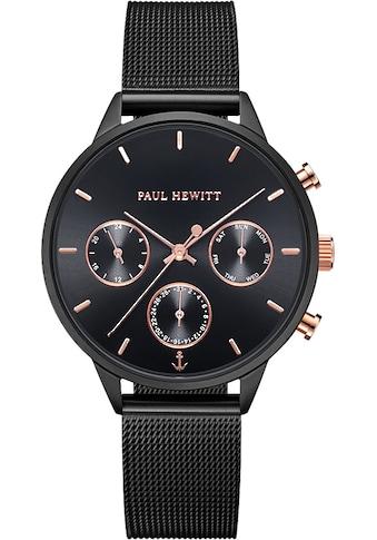 PAUL HEWITT Multifunktionsuhr »Everpulse Black Sunray Roségoldfarben Black Mesh,... kaufen