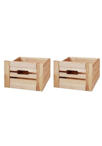 WELLTIME Set: Aufbewahrungsbox »Venezia Landhaus«, 2er - Set, aus Massivholz Kiefer kaufen