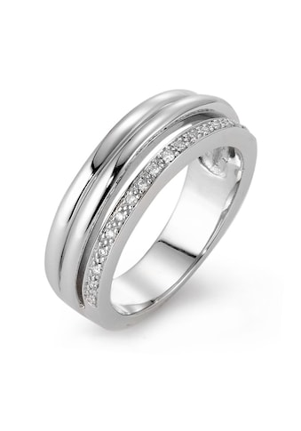 Fingerring 750/18 K Weissgoldfarben Diamant 0.08 ct kaufen