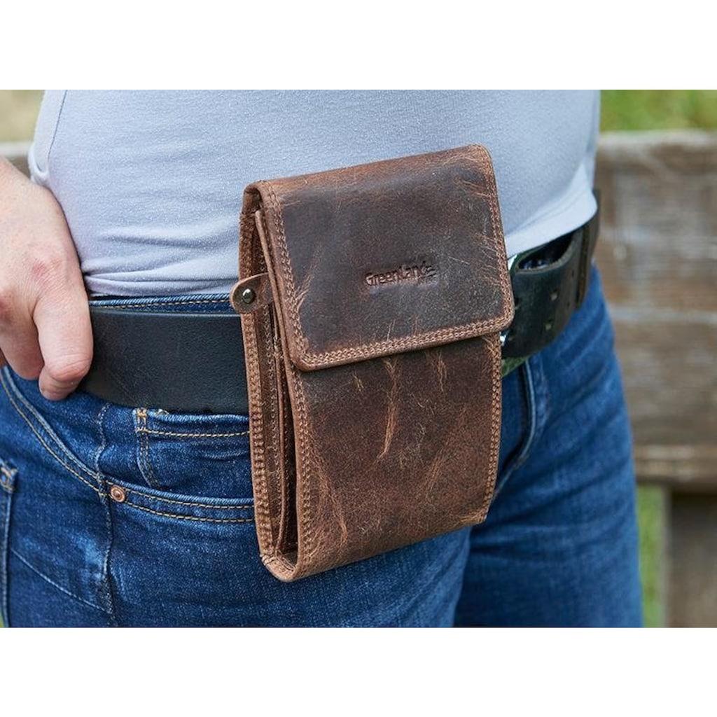 GreenLand Nature Geldbörse »Montana«, kann auch als Gürteltasche getragen werden, mit RFID-Block
