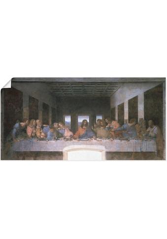 Artland Wandbild »Das letzte Abendmahl«, Religion, (1 St.), in vielen Grössen &... kaufen