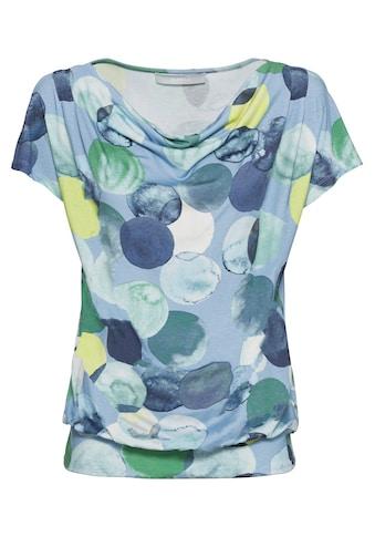bianca Wasserfallshirt »WIEBKE«, im Punkte-Design mit den aktuellen Trendfarben kaufen