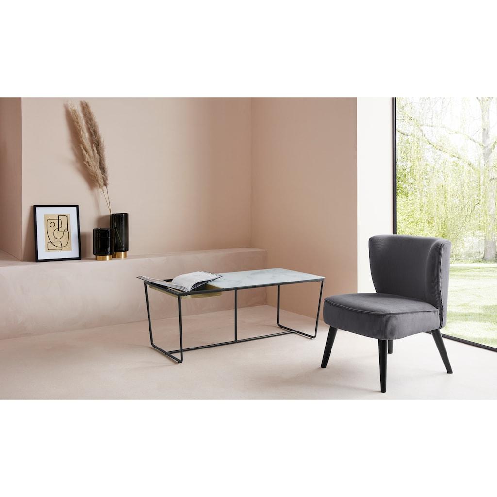 LeGer Home by Lena Gercke Sessel »Sarina«, In 2 Bezugsqualitäten, Sitz und Rücken gepolstert