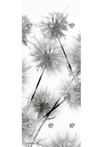 queence Garderobenpaneel »Blüte«, mit 6 Haken, 50 x 120 cm kaufen