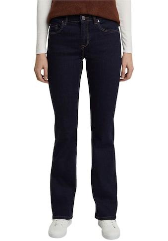 Esprit Bootcut-Jeans, aus Stretch-Denim mit leichten Washed- und Used Effekten kaufen