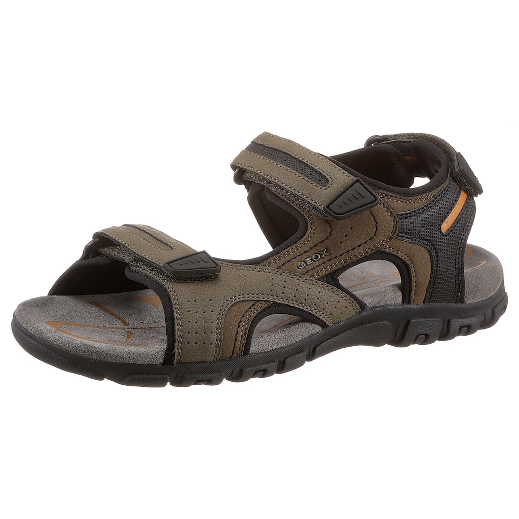 Geox Sandale »UOMO SANDAL STRADA«, mit Fersenriemchen als Klettverschluss