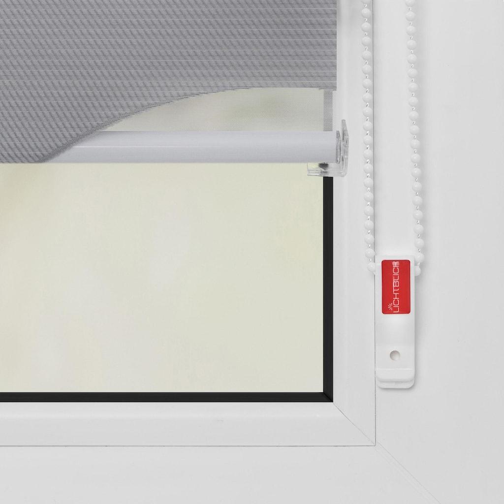 LICHTBLICK ORIGINAL Doppelrollo »Duo Rollo Klemmfix Ellipse«, Lichtschutz, ohne Bohren, im Fixmass
