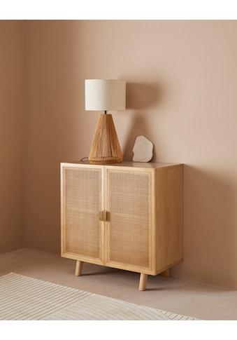 LeGer Home by Lena Gercke Sideboard »Lina«, Mit Rattan Einsatz, 2 Innenfächer, teilmassiv kaufen