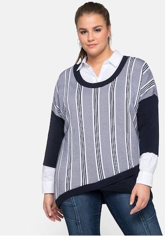 Sheego 3/4 Arm-Pullover, aus reinem Tencel kaufen