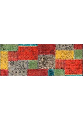 wash+dry by Kleen-Tex Läufer »Vintage Patches«, rechteckig, 7 mm Höhe kaufen