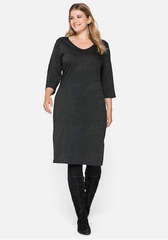 Sheego Jerseykleid, mit seitlichen Falten kaufen