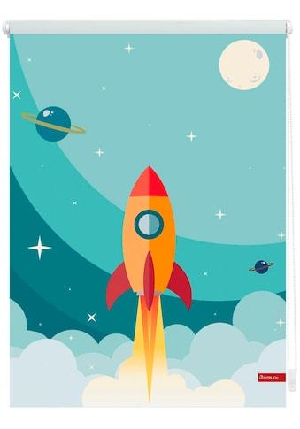 LICHTBLICK ORIGINAL Seitenzugrollo »Klemmfix Digital Rakete«, verdunkelnd,... kaufen