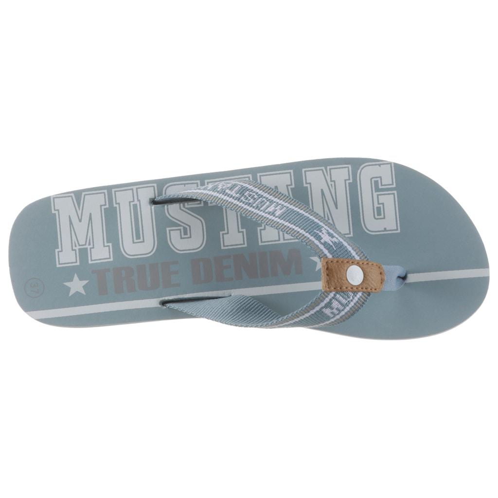 Mustang Shoes Zehentrenner, mit bedruckter Innensohle