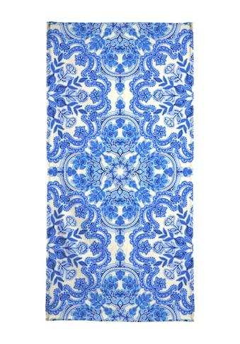 Juniqe Handtuch »Blue & White Folk Art Pattern«, (1 St.), Weiche Frottee-Veloursqualität kaufen