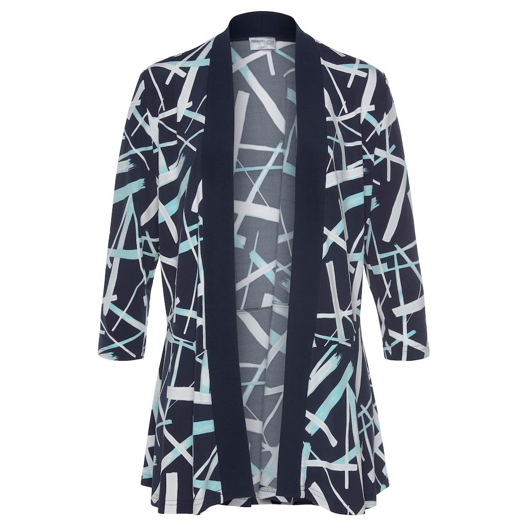 HERMANN LANGE Collection Blusenblazer, aus bedrucktem, elegantem Jersey