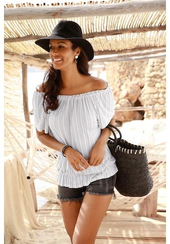 LASCANA Carmenshirt, im Streifenlook kaufen