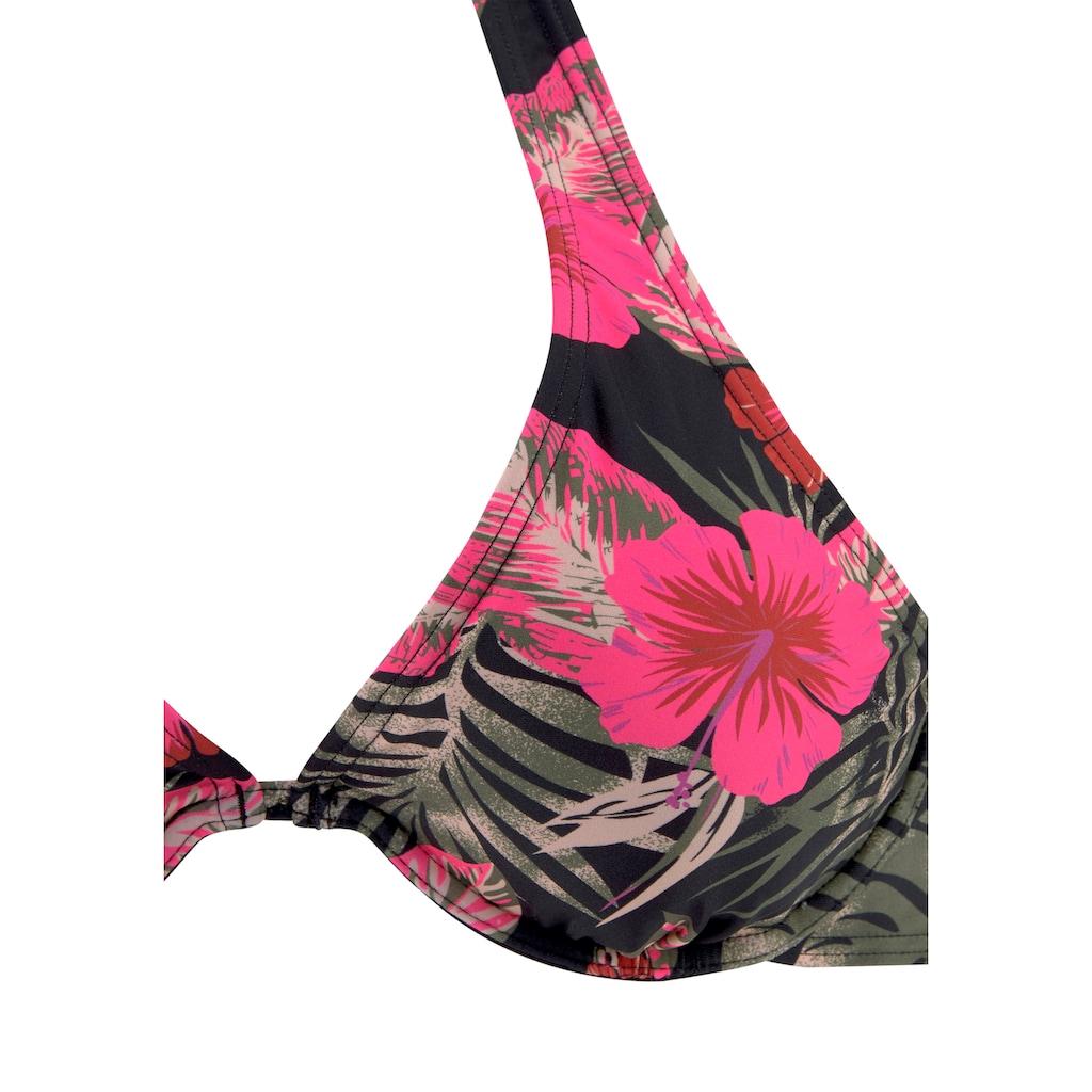 LASCANA Bügel-Bikini-Top »Elsa«, mit floralem Druck