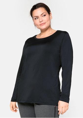 Sheego Langarmshirt, mit reflektierendem Rückendruck kaufen