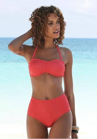 LASCANA Bandeau-Bikini-Top »Scallop«, mit gelaserter Wellenkante kaufen