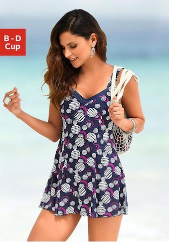 LASCANA Badekleid, mit modischen Kreisen kaufen