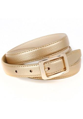 Anthoni Crown Ledergürtel, in Hirschprägung mit goldfarbener Schliesse kaufen