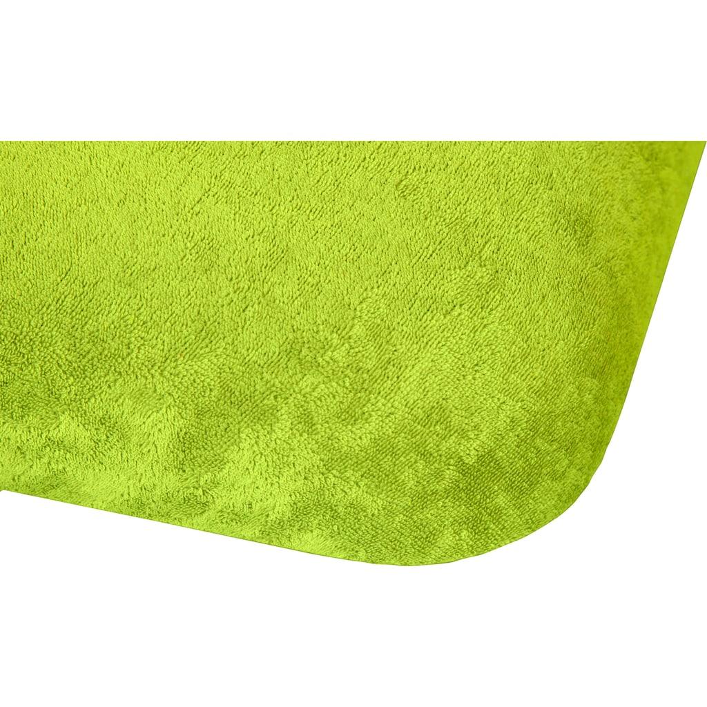 Kneer Massageliegenbezug »Flausch-Frottee«, mit Nasenschlitz