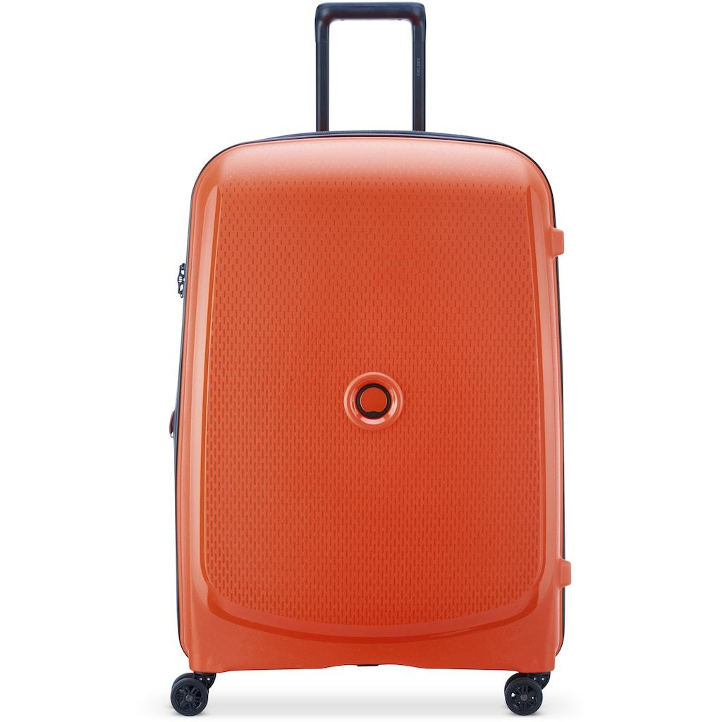 Delsey Hartschalen-Trolley »Belmont Plus, 76 cm, orange«, 4 Rollen, mit Volumenerweiterung