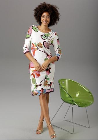 Aniston SELECTED Jerseykleid, mit gestreiften Abschlüssen kaufen