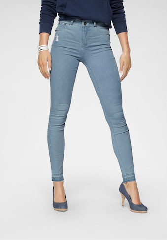 Arizona Skinny-fit-Jeans »Ultra Stretch«, High Waist mit offenem Saum kaufen