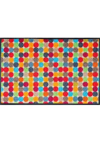 wash+dry by Kleen-Tex Fussmatte »Mikado Dots«, rechteckig, 7 mm Höhe, Schmutzfangmatte kaufen