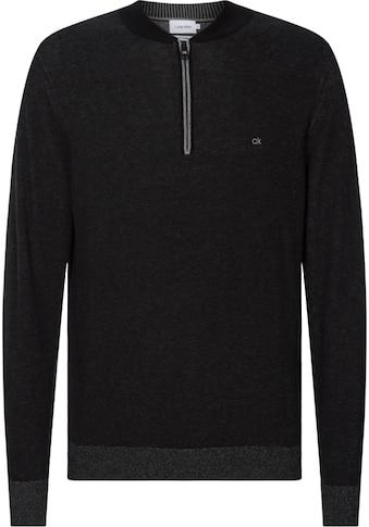Calvin Klein Troyer »COTTON SILK BASEBALL ZIP SWEATER« kaufen