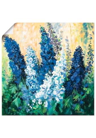 Artland Wandbild »Blauer Rittersporn«, Blumen, (1 St.), in vielen Grössen &... kaufen