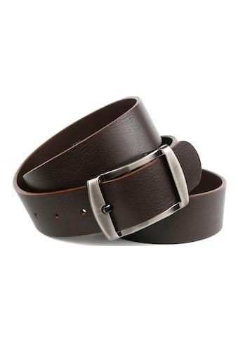 Anthoni Crown Ledergürtel, Vollleder Jeansgürtel in dunkelbraun kaufen