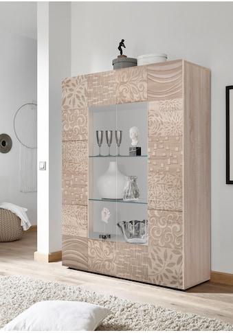 LC Stauraumvitrine »Miro«, Stauraumvitrine, Höhe 166 cm mit dekorativem Siebdruck kaufen