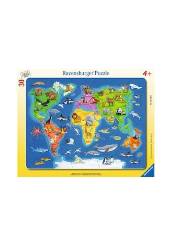 Ravensburger Puzzle »Weltkarte mit Tieren« kaufen