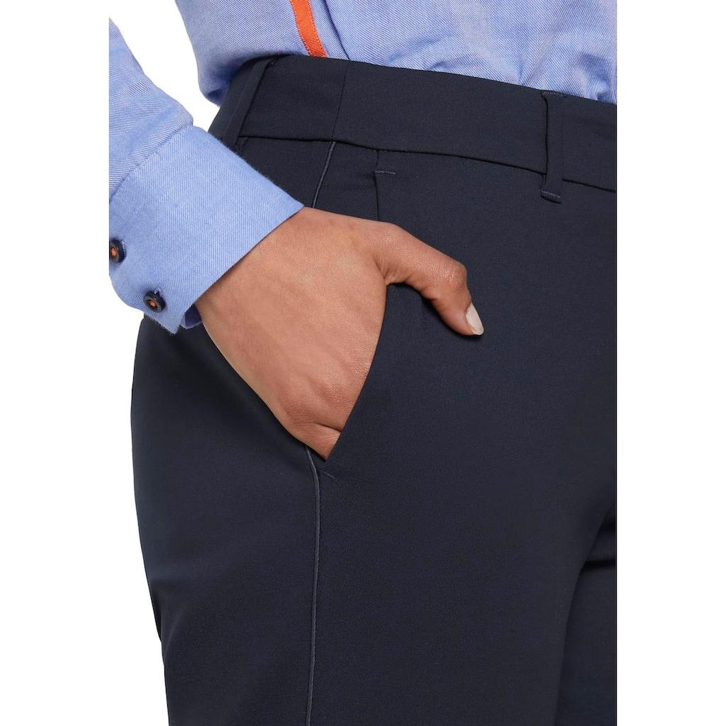 TOM TAILOR mine to five Anzughose, in Ankle-Länge mit seitlichem Satin-Streifen