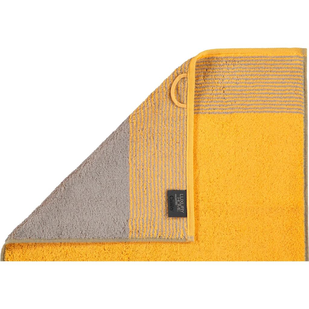 Cawö Handtücher »Two-Tone«, (2 St.), mit Wendeoptik