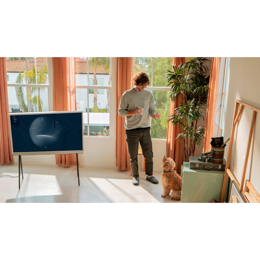"Samsung QLED-Fernseher »GQ43LS01TBU ""The Serif""«, 108 cm/43 "", 4K Ultra HD, Smart-TV"