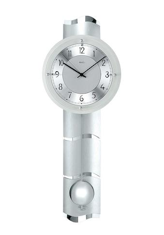 AMS Funk-Pendelwanduhr »F5215«, mit diamantgedrehtem Aluminiumzifferblatt kaufen