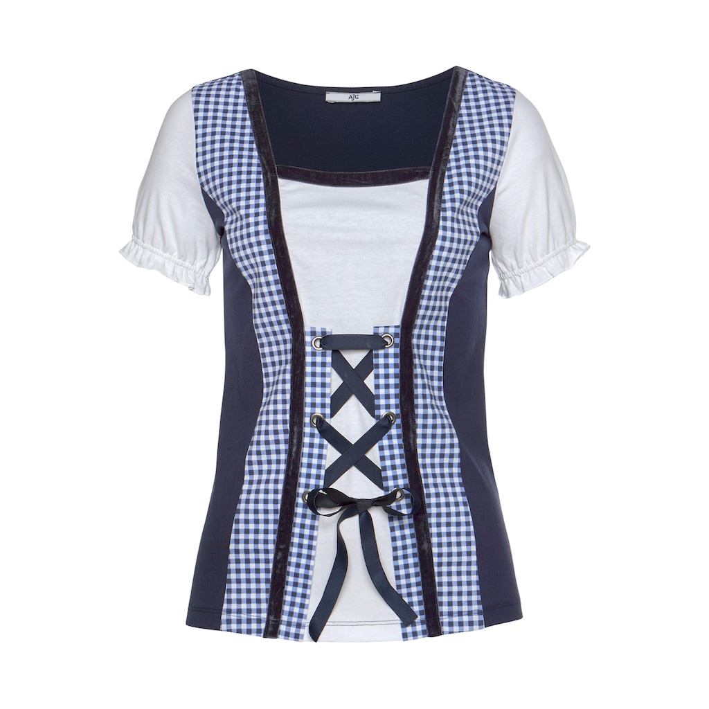 AJC T-Shirt, in Dirndl-Optik mit Karomuster