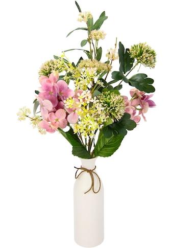 I.GE.A. Kunstblume »Mixed-Blumenstrauss«, Keramikvase kaufen