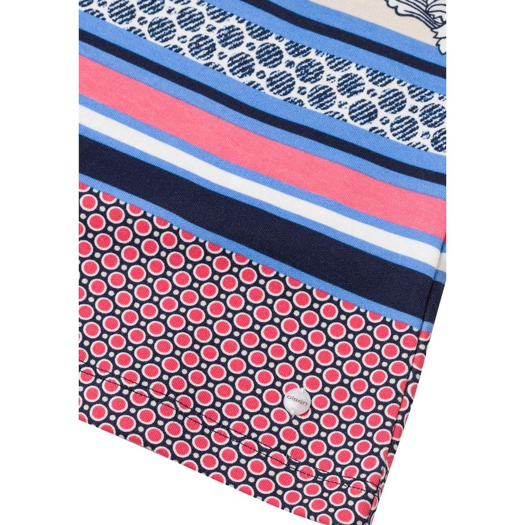 Olsen Print-Shirt, mit Muster-Mix