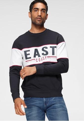 TOM TAILOR Polo Team Sweatshirt, mit aufwendigem Frontdruck und Paspel kaufen