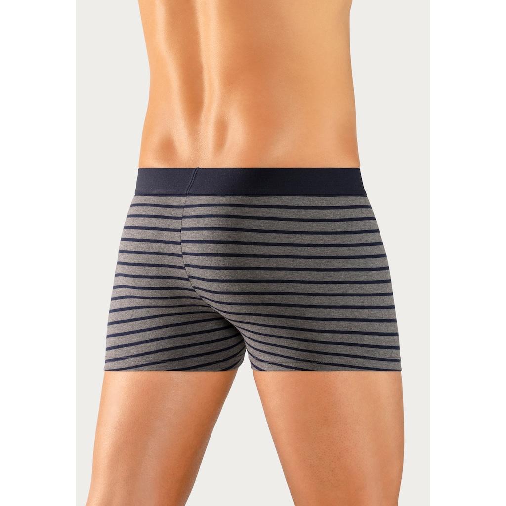 s.Oliver Bodywear Boxer, gestreift mit kontrastfarbenem Webbund