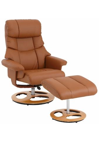 Home affaire Relaxsessel »Toulon«, inklusive Hocker, mit manueller Relaxfunktion, auswählbar zwischen zwei unterschiedlichen Beingestellen, Sitzhöhe 45 cm kaufen