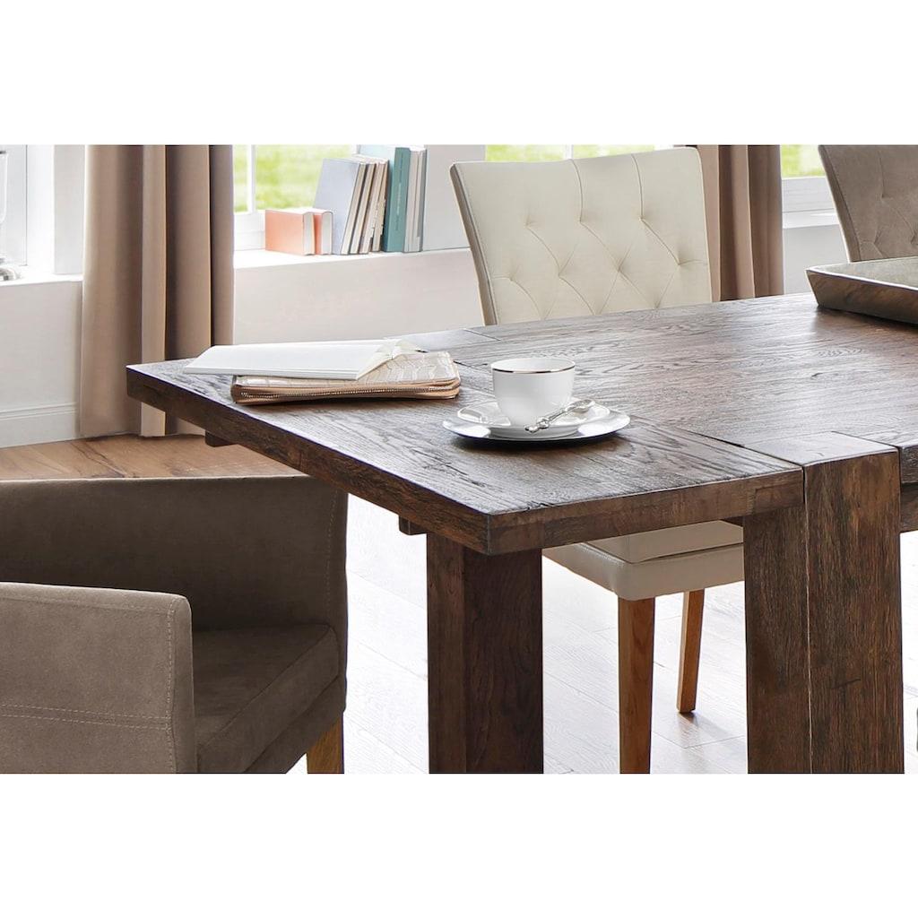 Home affaire Ansteckplatte »Marianne«, aus massiver Wildeiche, passend für den Esstisch »Marianne«, in zwei Breiten und zwei Holzfarben